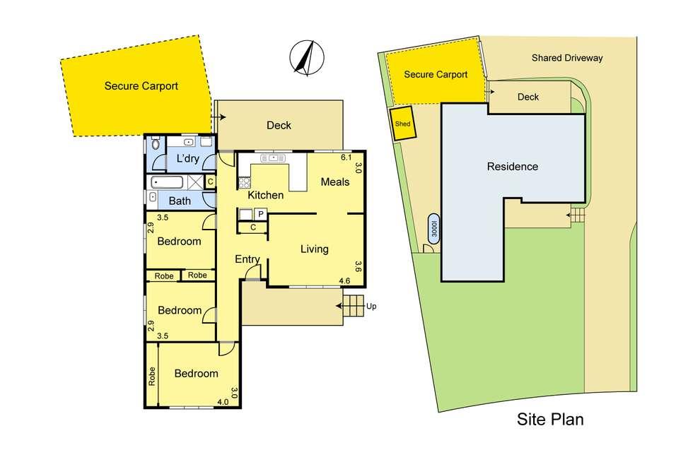 Floorplan of Homely unit listing, 1/32 Yerrawa Drive, Watsonia VIC 3087