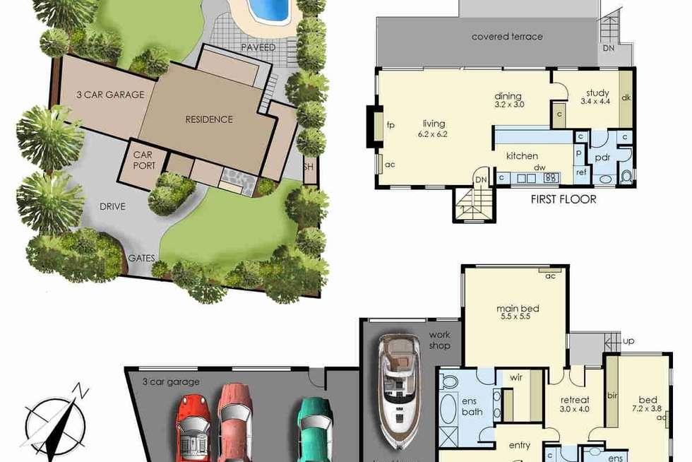 Floorplan of Homely house listing, 11-13 Ravenscourt Crescent, Mount Eliza VIC 3930