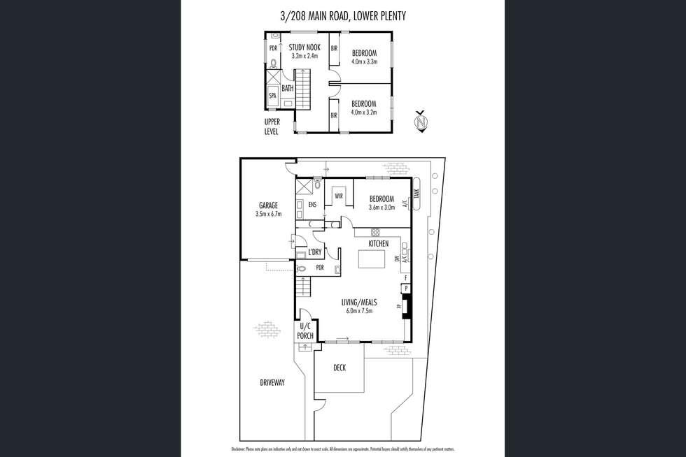 Floorplan of Homely unit listing, 3/208 Main Road, Lower Plenty VIC 3093
