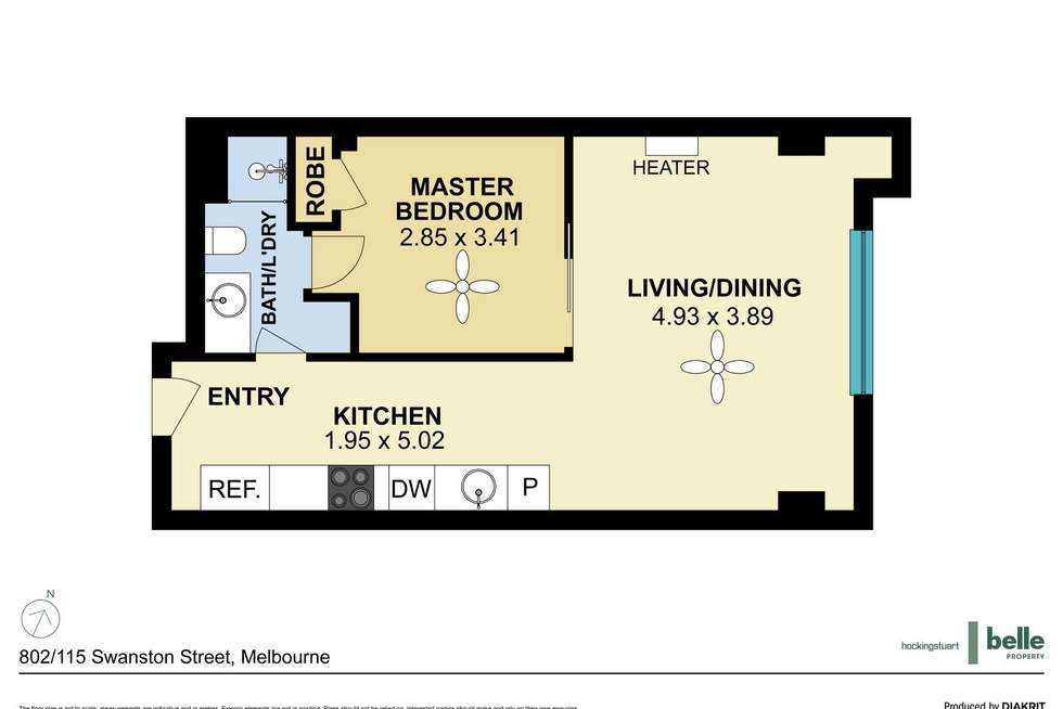 Floorplan of Homely apartment listing, 802/115 Swanston Street, Melbourne VIC 3000