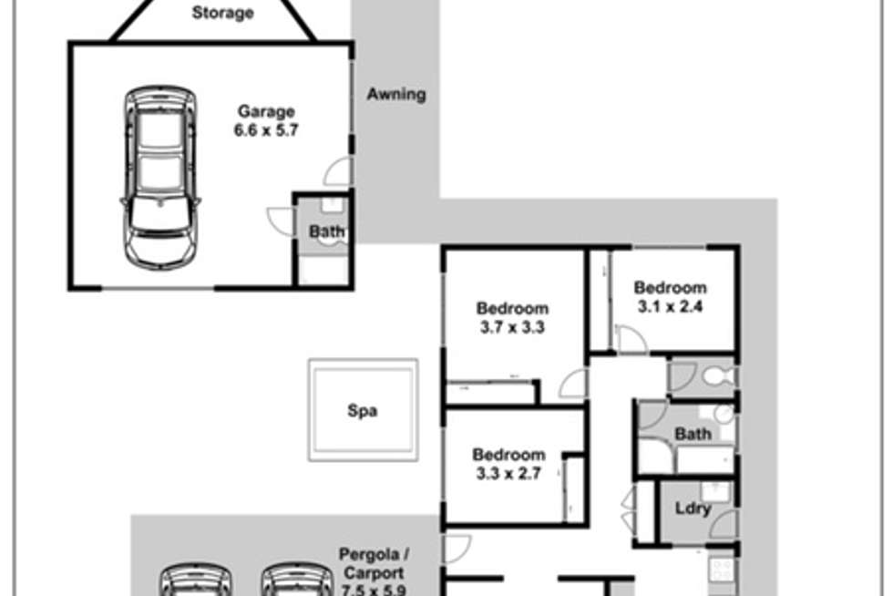 Floorplan of Homely house listing, 4 Bombala Crescent, Quakers Hill NSW 2763