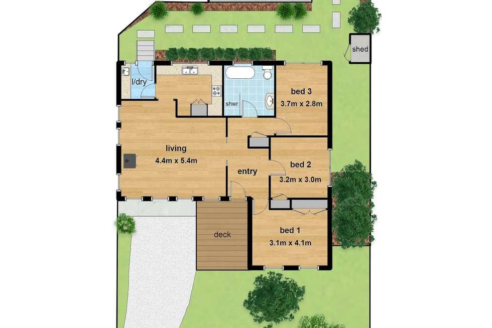Floorplan of Homely house listing, 13 Sophie Street, Kilsyth VIC 3137