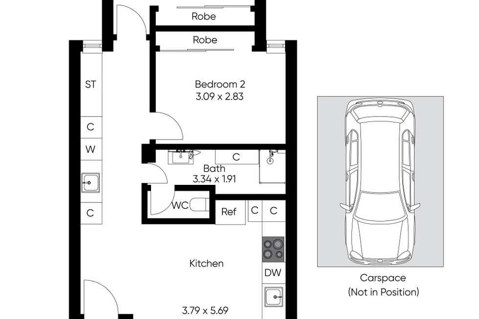 Floorplan of Homely apartment listing, 12/65 Westbury Street, St Kilda East VIC 3183