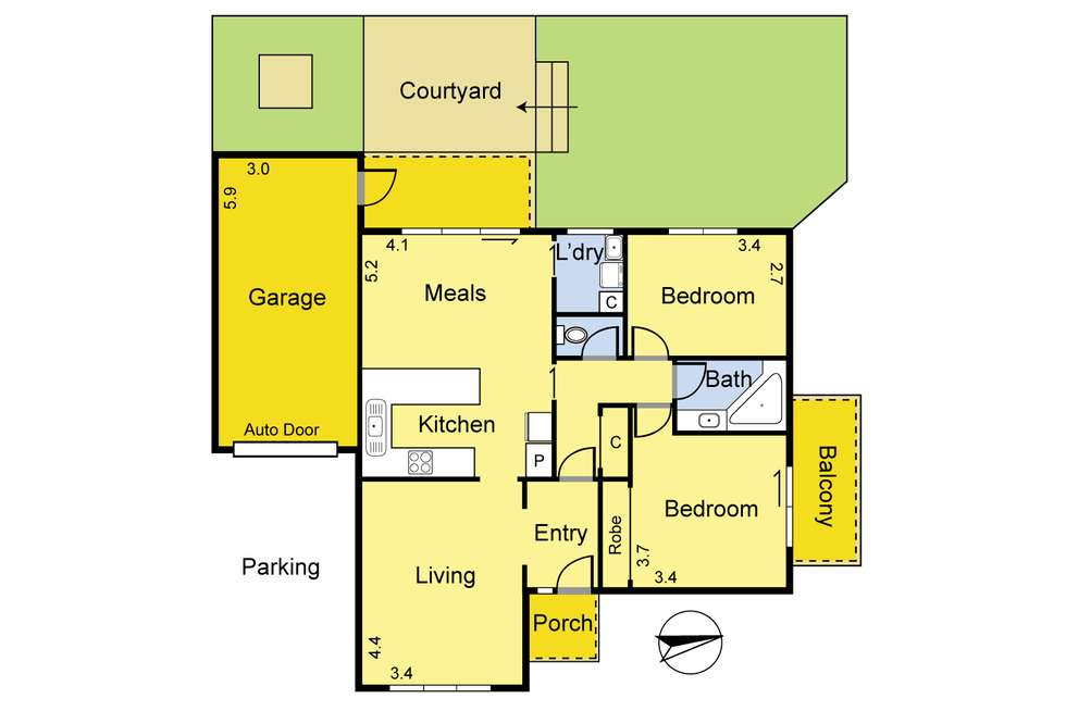 Floorplan of Homely unit listing, 1/39 Alexandra Street, Greensborough VIC 3088