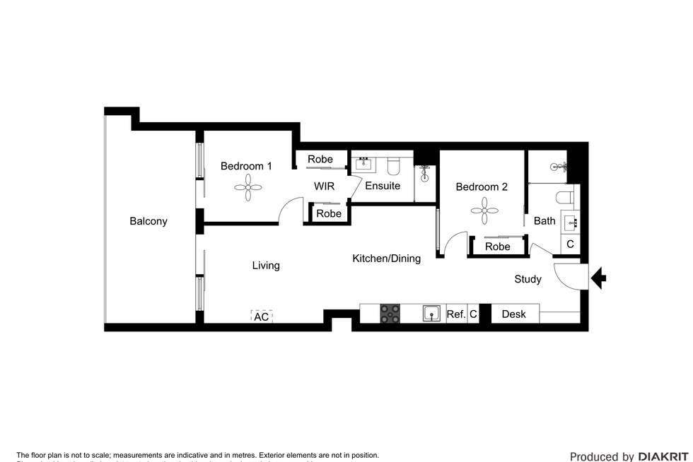Floorplan of Homely apartment listing, 611/199 William Street, Melbourne VIC 3000