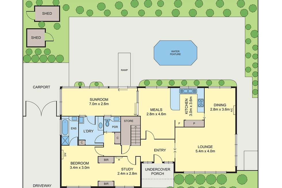 Floorplan of Homely house listing, 414 Clayton Road, Clayton South VIC 3169