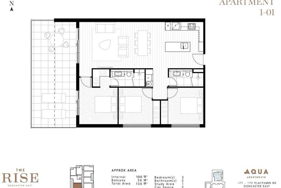 Floorplan of Homely apartment listing, 101/177-179 Blackburn Road, Doncaster East VIC 3109