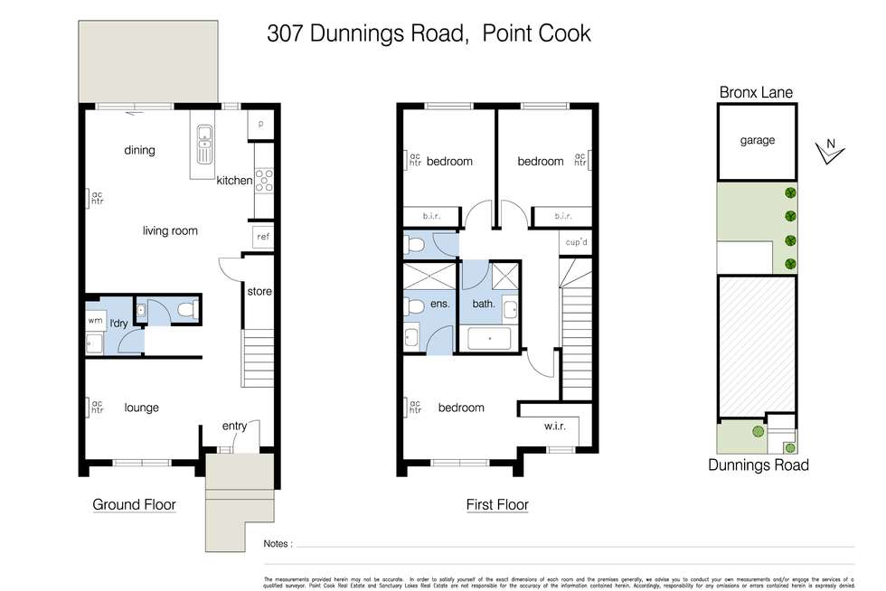 Floorplan of Homely townhouse listing, 307 Dunnings Road, Point Cook VIC 3030