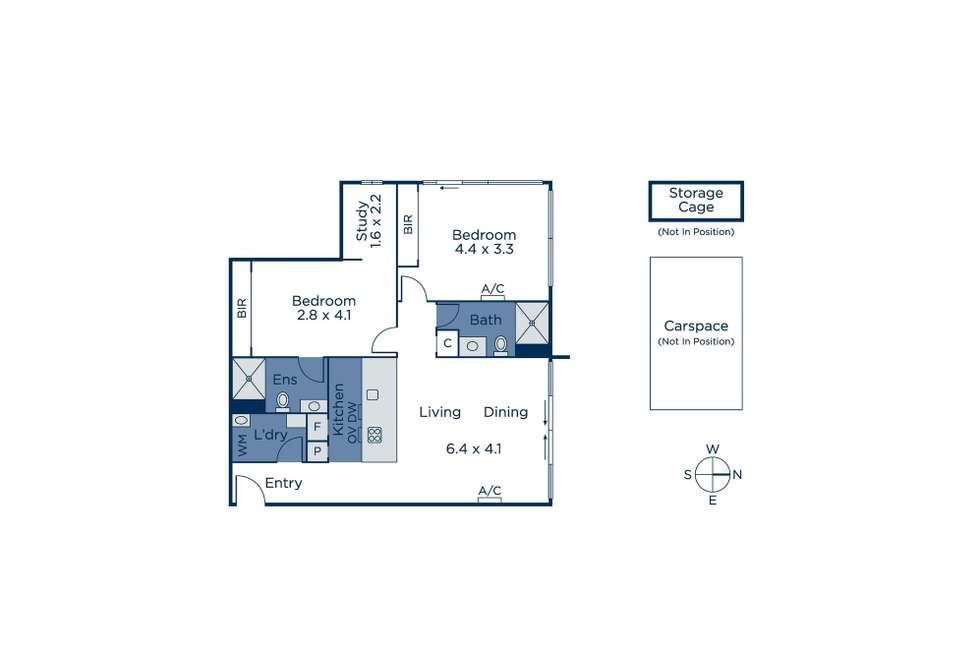 Floorplan of Homely apartment listing, 905/155 Franklin Street, Melbourne VIC 3000