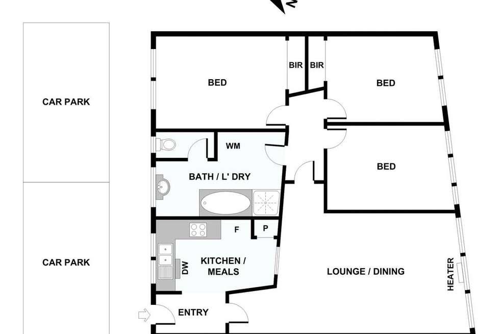 Floorplan of Homely apartment listing, 21/2A Robe Street, St Kilda VIC 3182