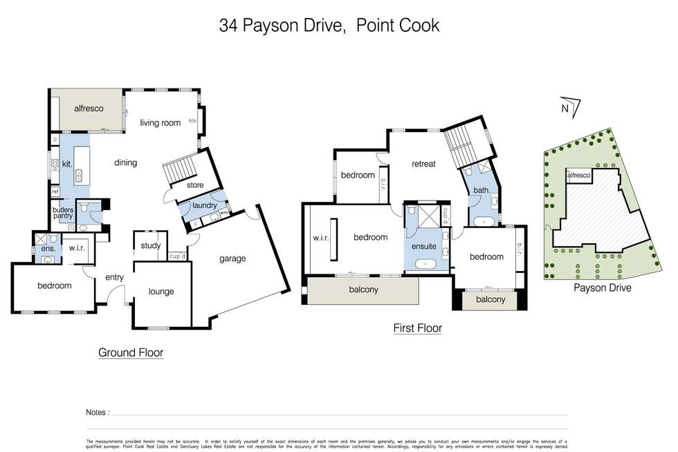 Floorplan of Homely house listing, 34 Payson Drive, Point Cook VIC 3030