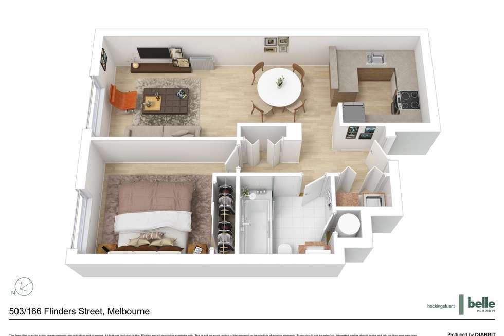 Floorplan of Homely apartment listing, 503/166 Flinders Street, Melbourne VIC 3000