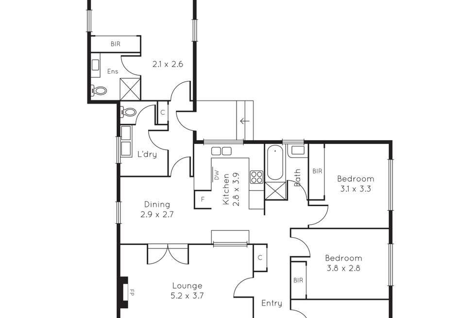 Floorplan of Homely house listing, 159 Station Street, Burwood VIC 3125