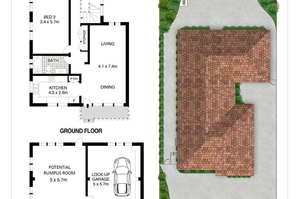 Floorplan of Homely house listing, 55 Bellevue Parade, North Curl Curl NSW 2099