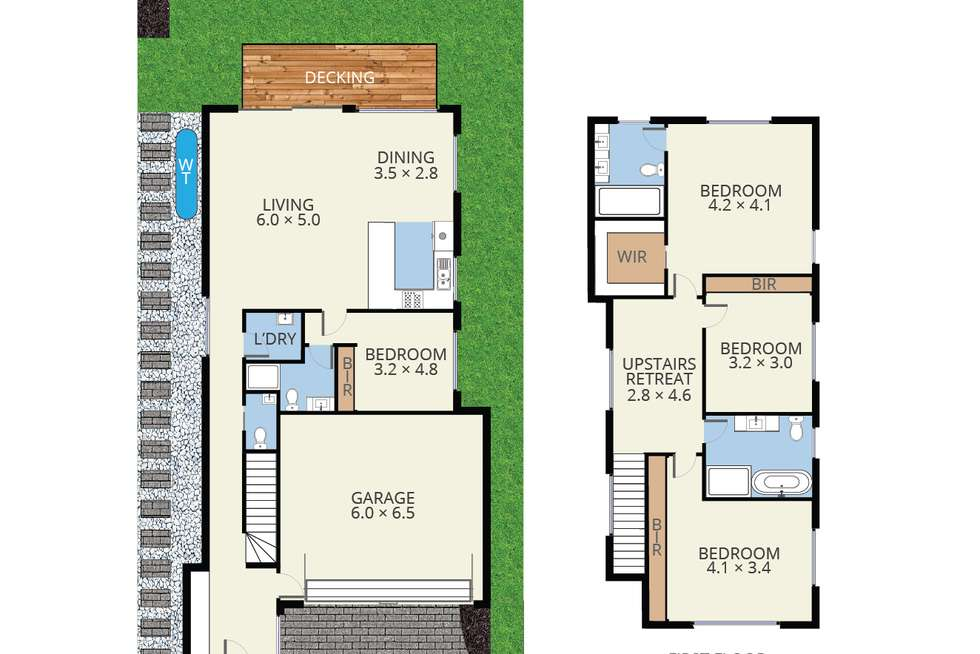 Floorplan of Homely townhouse listing, 4/6 Coppin Close, Mitcham VIC 3132