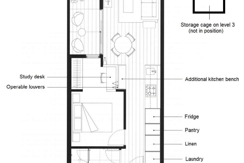 Floorplan of Homely apartment listing, 310/35 Wilson Street, South Yarra VIC 3141