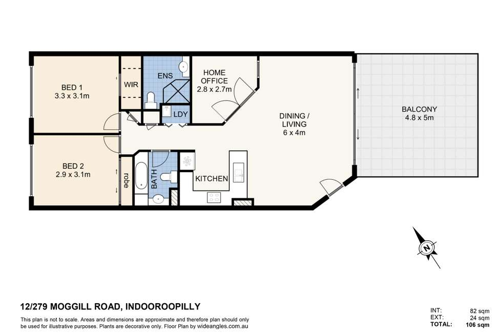 Floorplan of Homely unit listing, 12/279 Moggill Road, Indooroopilly QLD 4068