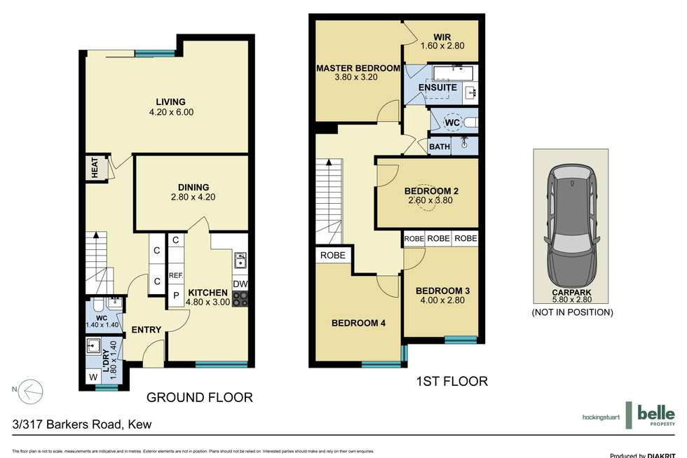 Floorplan of Homely townhouse listing, 3/317 Barkers Road, Kew VIC 3101