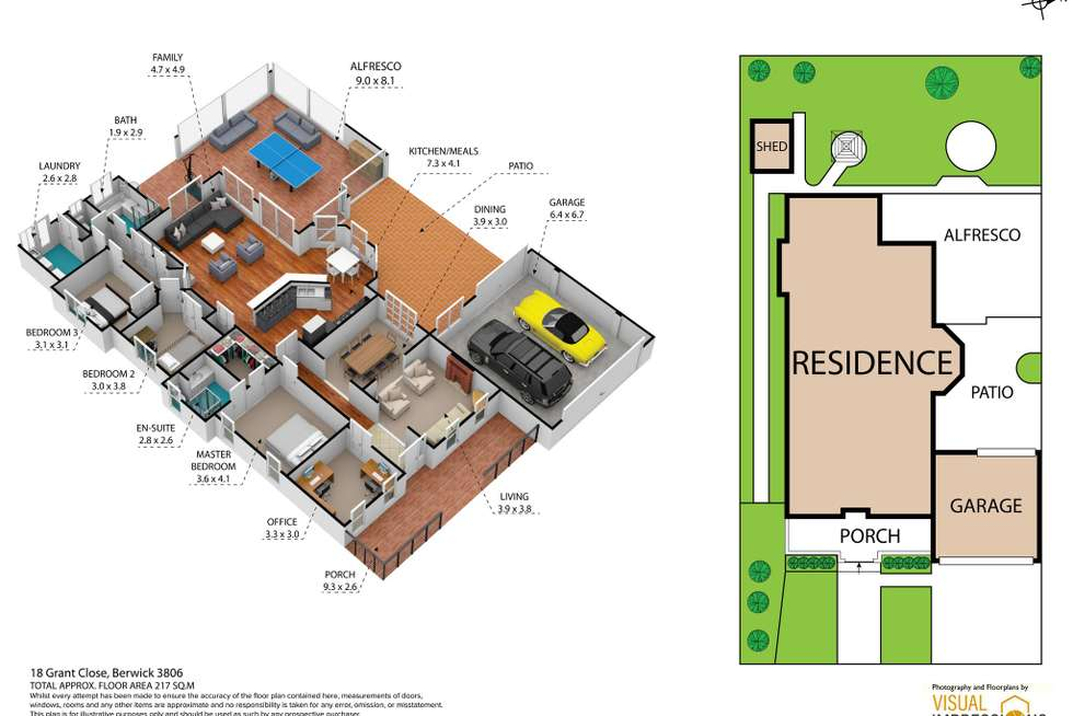 Floorplan of Homely house listing, 18 Grant Close, Berwick VIC 3806