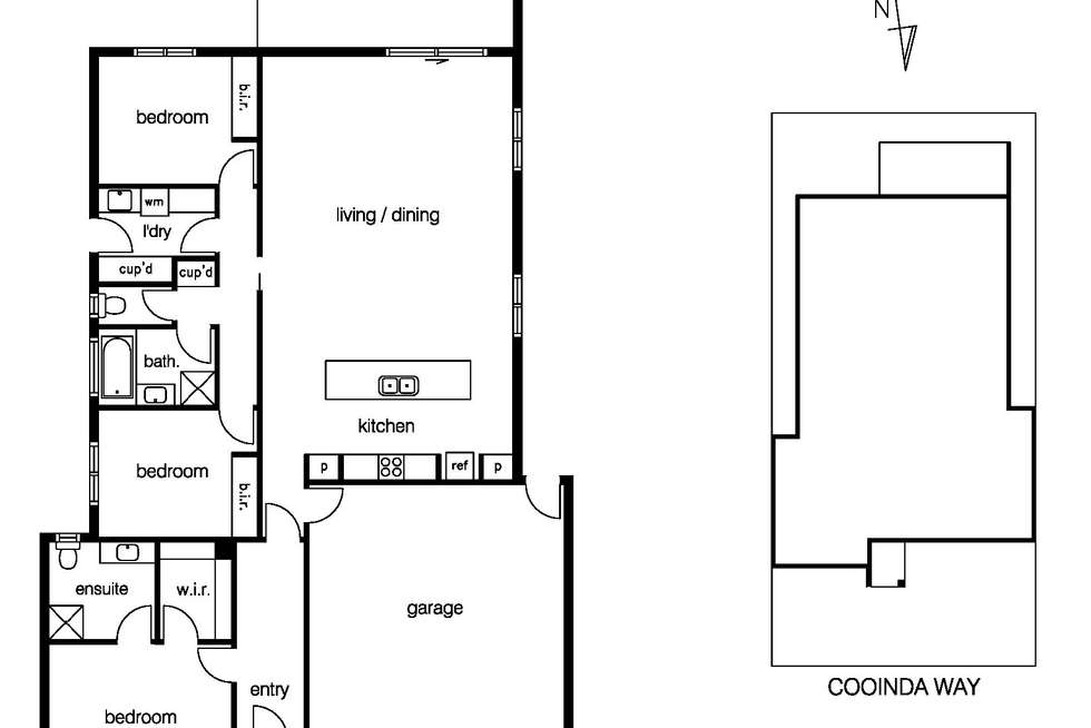 Floorplan of Homely house listing, 66 Cooinda Way, Point Cook VIC 3030