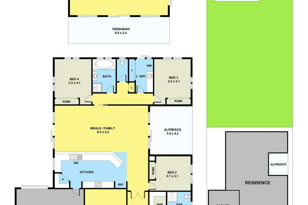 Floorplan of Homely house listing, 116 Rosebank Drive, Cranbourne North VIC 3977