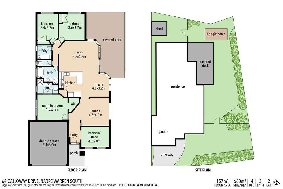 Floorplan of Homely house listing, 64 Galloway Drive, Narre Warren South VIC 3805
