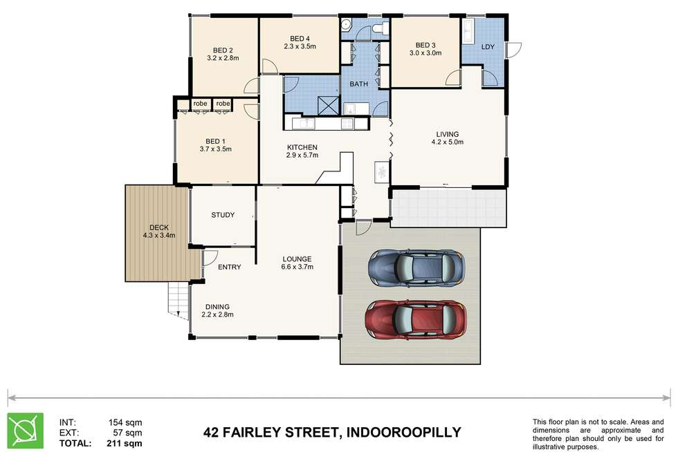 Floorplan of Homely house listing, 42 Fairley Street, Indooroopilly QLD 4068