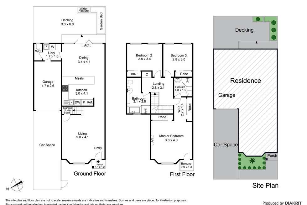 Floorplan of Homely house listing, 10 Continental Way, Prahran VIC 3181