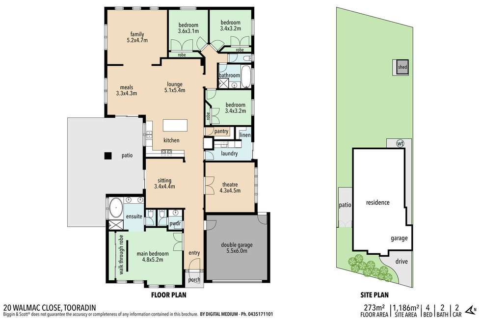 Floorplan of Homely house listing, 20 Walmac Close, Tooradin VIC 3980