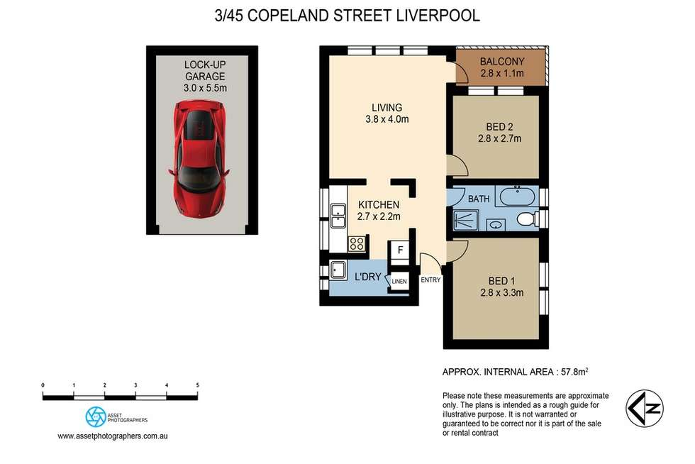 Floorplan of Homely apartment listing, 3/45 Copeland Street, Liverpool NSW 2170