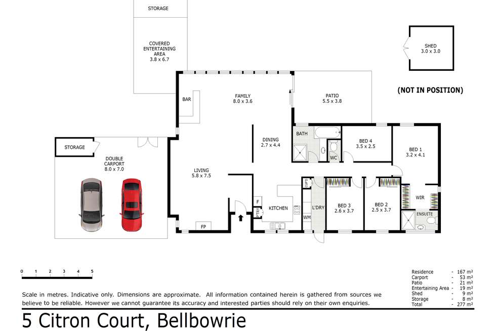 Floorplan of Homely house listing, 5 Citron Court, Bellbowrie QLD 4070