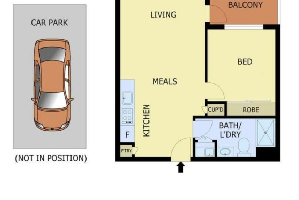 Floorplan of Homely apartment listing, 401/408 Burwood Highway, Wantirna South VIC 3152