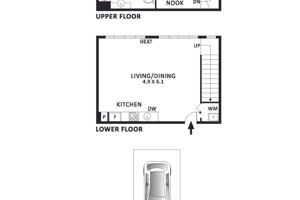 Floorplan of Homely apartment listing, 1117/422 Collins Street, Melbourne VIC 3000