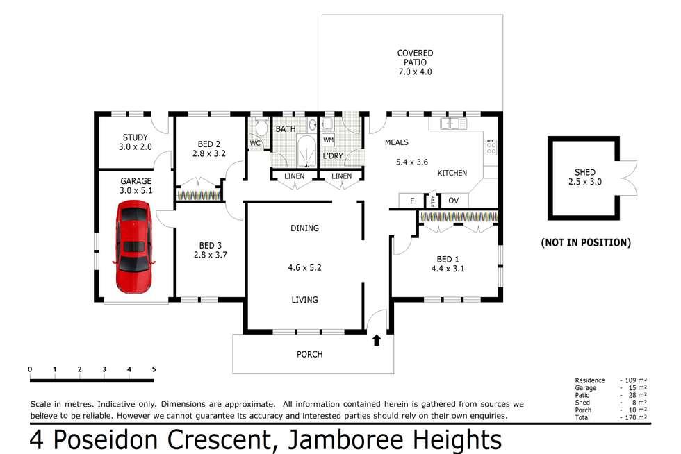 Floorplan of Homely house listing, 4 Poseidon Crescent, Jamboree Heights QLD 4074