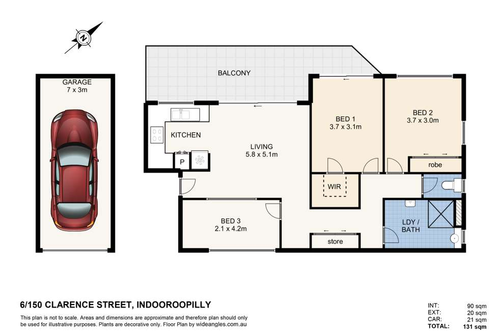 Floorplan of Homely unit listing, 6/150 Clarence Road, Indooroopilly QLD 4068