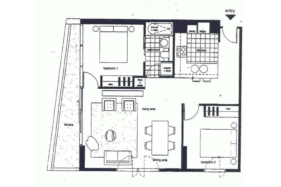 Floorplan of Homely apartment listing, 1211/620 Collins Street, Melbourne VIC 3000