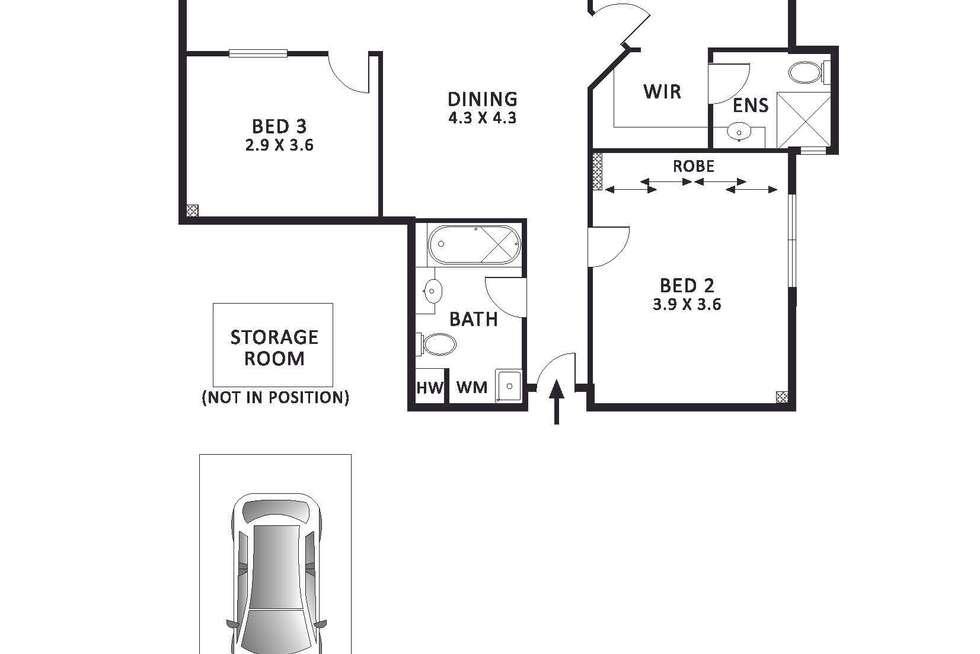 Floorplan of Homely apartment listing, 21/30 La Trobe Street, Melbourne VIC 3000
