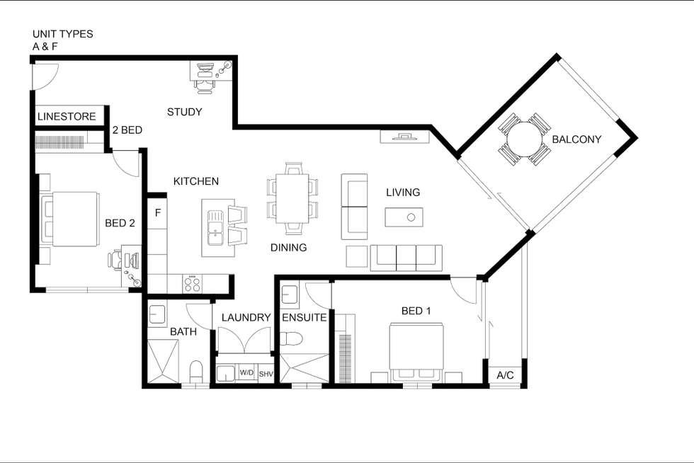 Floorplan of Homely apartment listing, 401D/65 Progress Drive, Nightcliff NT 810