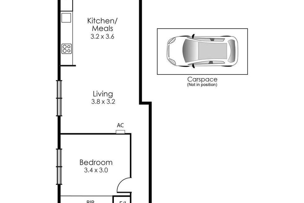 Floorplan of Homely apartment listing, 201/160 Hotham Street, St Kilda East VIC 3183