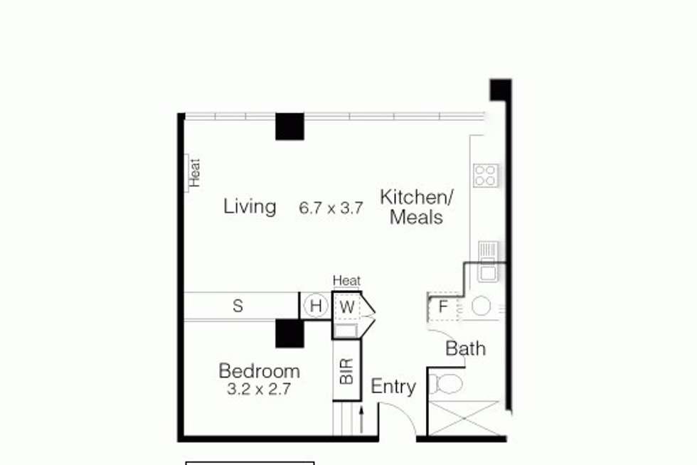 Floorplan of Homely apartment listing, 4/27 Flinders Lane, Melbourne VIC 3000