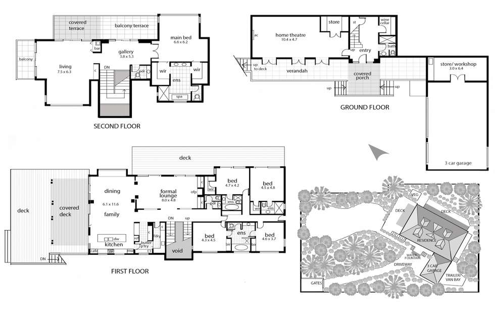 Floorplan of Homely house listing, 86 Elizabeth Road, Portsea VIC 3944