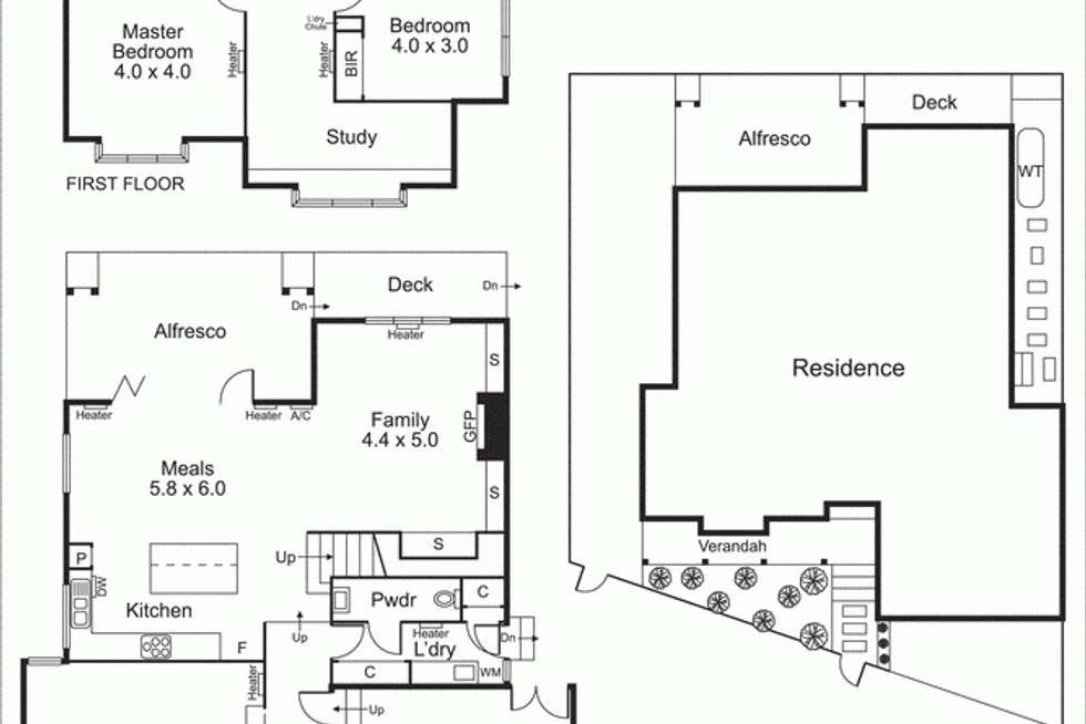 Floorplan of Homely house listing, 17 Banks Avenue, Hampton VIC 3188