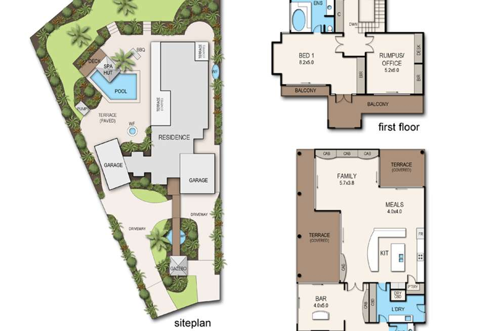 Floorplan of Homely house listing, 5 Coles Court, Mount Eliza VIC 3930
