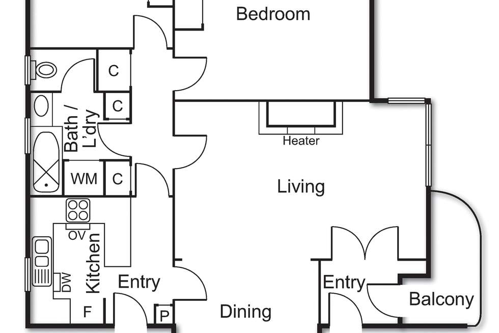 Floorplan of Homely apartment listing, 12/45 Chapel Street, St Kilda VIC 3182