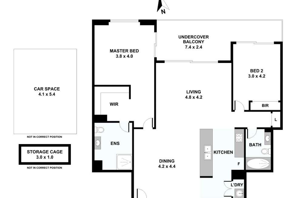 Floorplan of Homely apartment listing, 60/20 Victoria Road, Parramatta NSW 2150