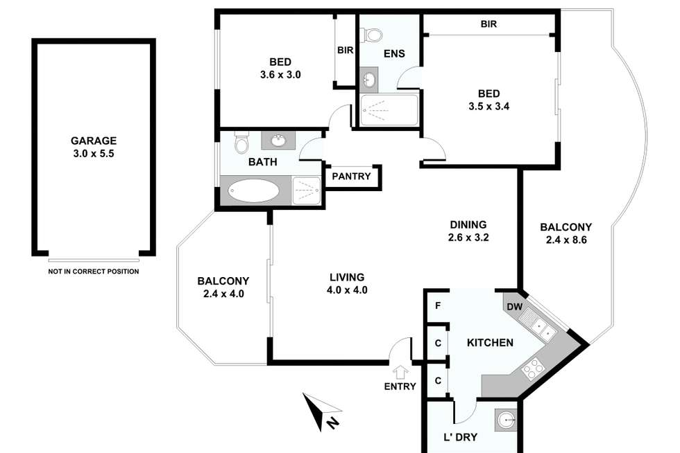 Floorplan of Homely apartment listing, 4/37-43 Good Street, Westmead NSW 2145