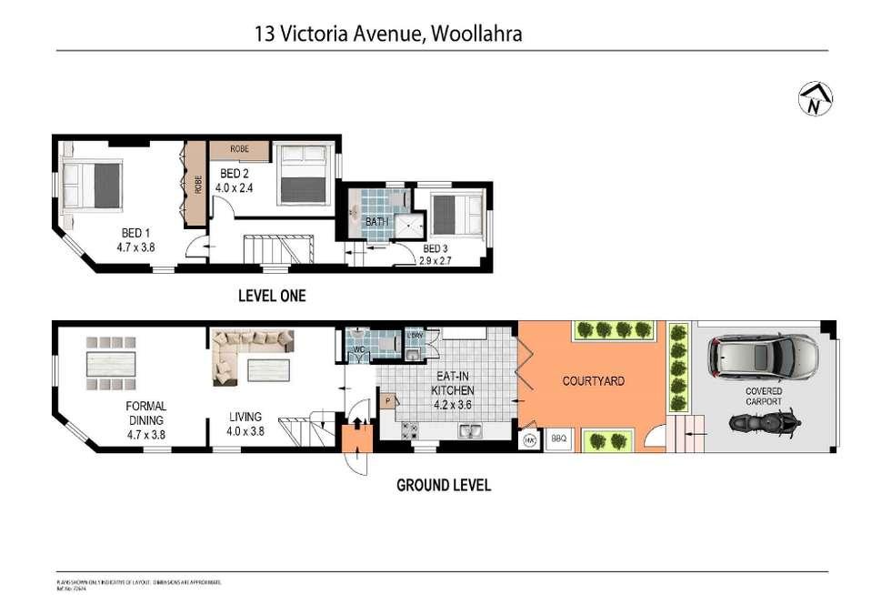 Floorplan of Homely terrace listing, 13 Victoria Avenue, Woollahra NSW 2025