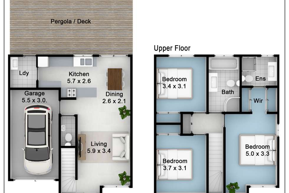 Floorplan of Homely townhouse listing, 81 Tamarind Drive, Acacia Gardens NSW 2763