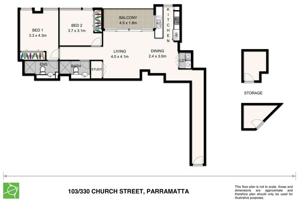 Floorplan of Homely unit listing, 103/330 Church Street, Parramatta NSW 2150