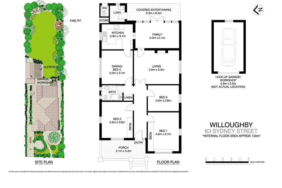 Floorplan of Homely house listing, 63 Sydney Street, Willoughby NSW 2068